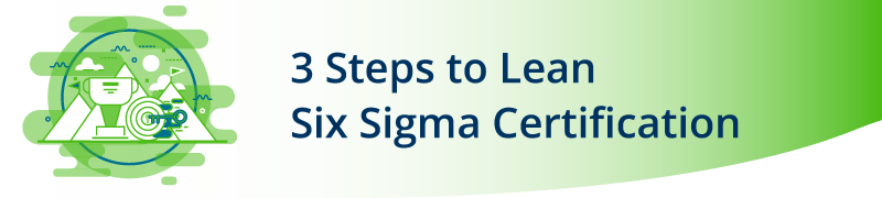 3 Steps to Lean Six Sigma Certification