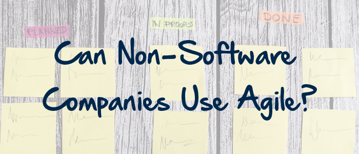 Can Non-Software Companies Use Agile?