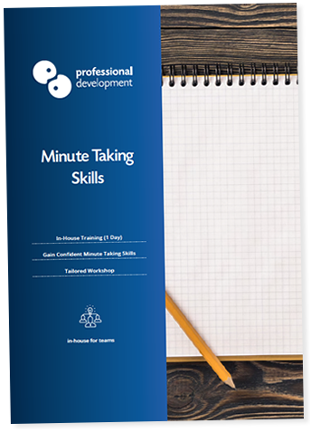 Minute Taking Course Brochure