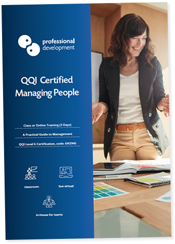 QQI Certified - Managing People Course Brochure