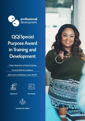 Download QQI Special Purpose Award in Training & Development Brochure