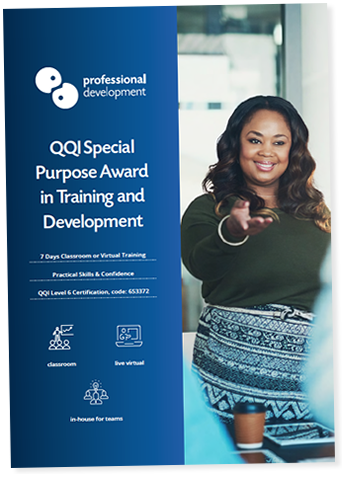 QQI Special Purpose Award in Training & Development Brochure