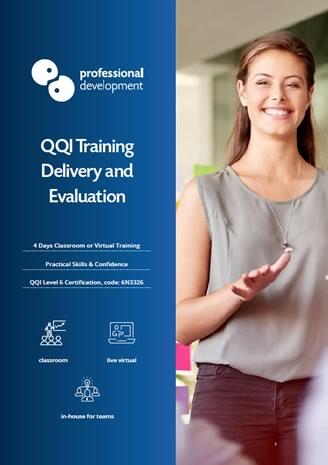 Download QQI Training Delivery & Evaluation Brochure