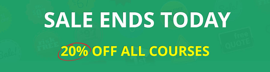20% OFF All Courses Ends Today