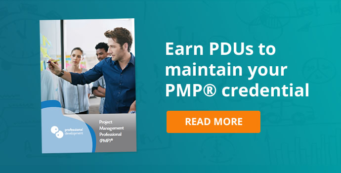 Earn PDUs to maintain your PMP® credential