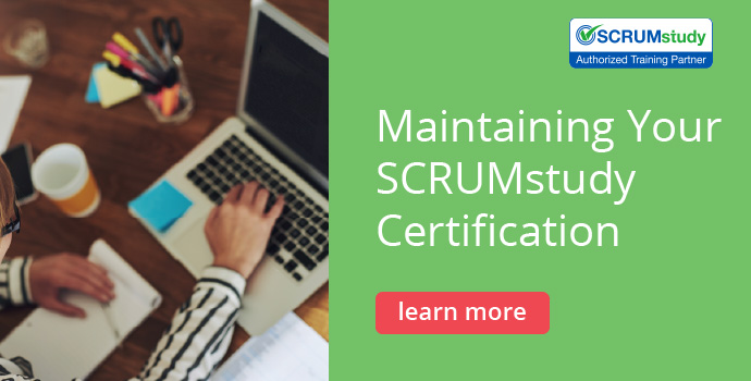 Maintaining Your SCRUMstudy Certification