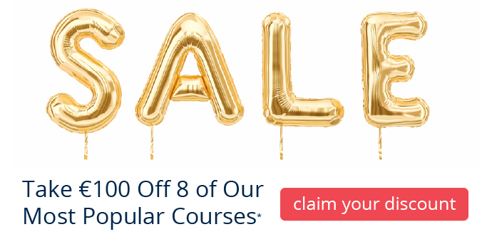 Save €100 on 8 of our Most Popular Courses